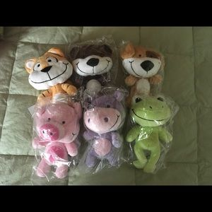 NWT Happy Pals Tiger, Bear, Dog, Pig, Hippo, Frog